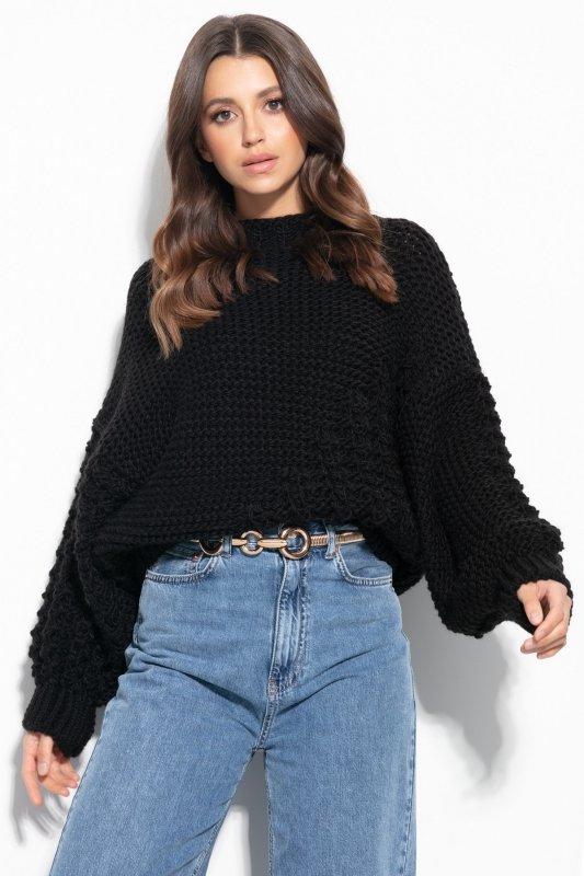 Sweter Chunky Knit F1125 - Czarny -1