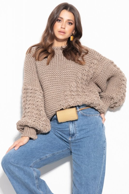 Sweter Chunky Knit F1125 - Mocca -4
