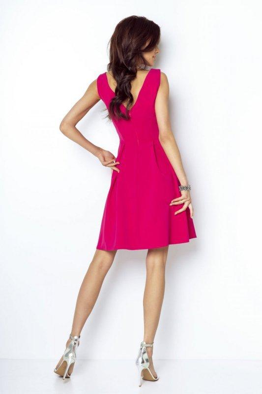 Rozkloszowana sukienka Tailor - Fuksja- Ivon
