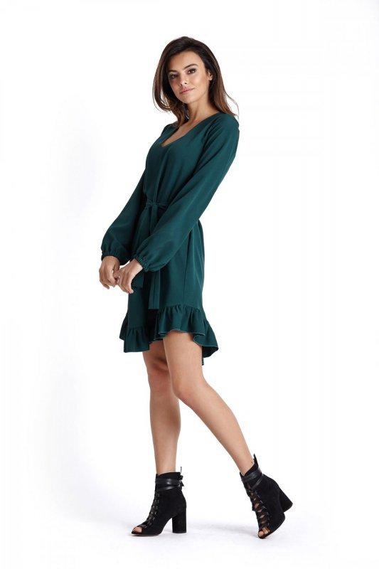 Sukienka w stylu Boho Masha - Zielona - Ivon