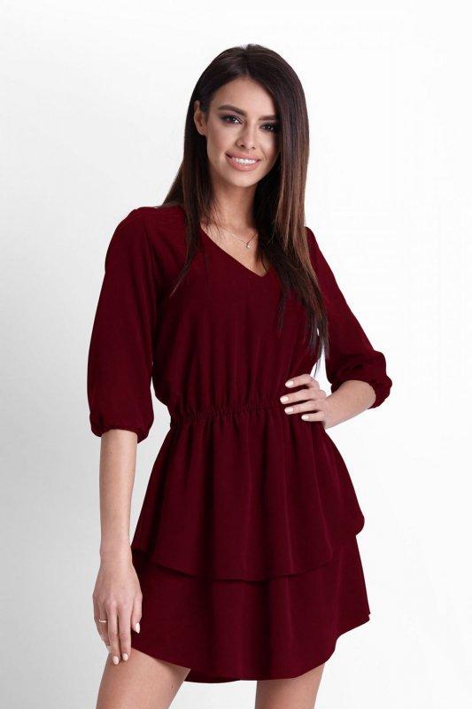 Sukienka Lucinda - Bordo - StreetStyle 522