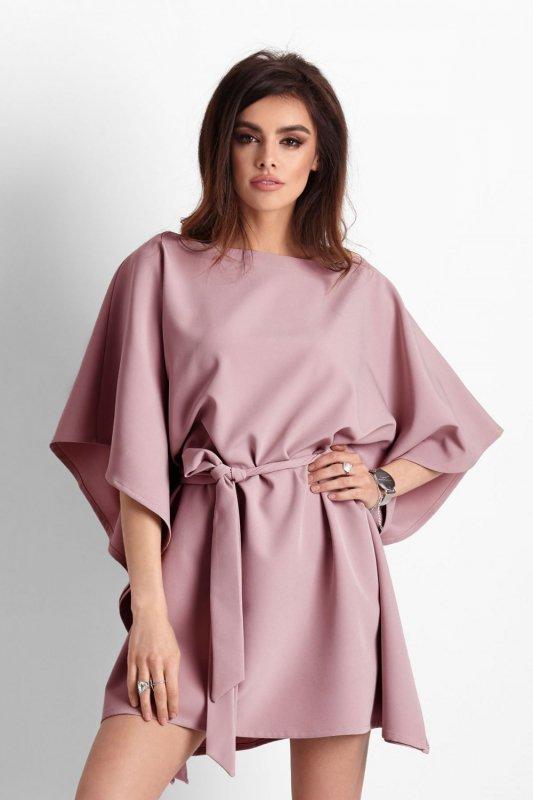 Kimonowa sukienka Lotta - Różowa - Ivon
