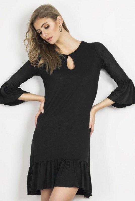 Sukienka o luźnym kroju Shira -Czarna  - Ivon