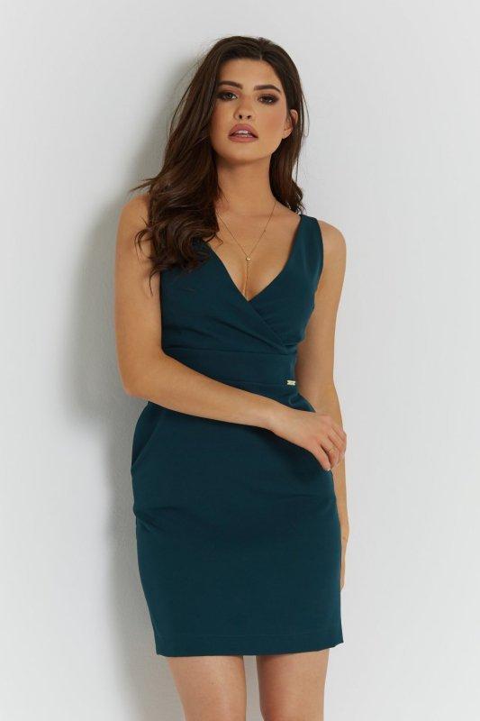 Klasyczna sukienka Paola - Zielona