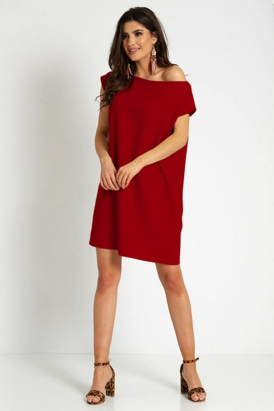 Sukienka Valencia 297 - czerwona_1.jpg