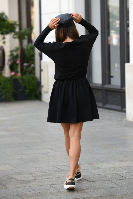 Casualowa sukienka z długim rękawem L348