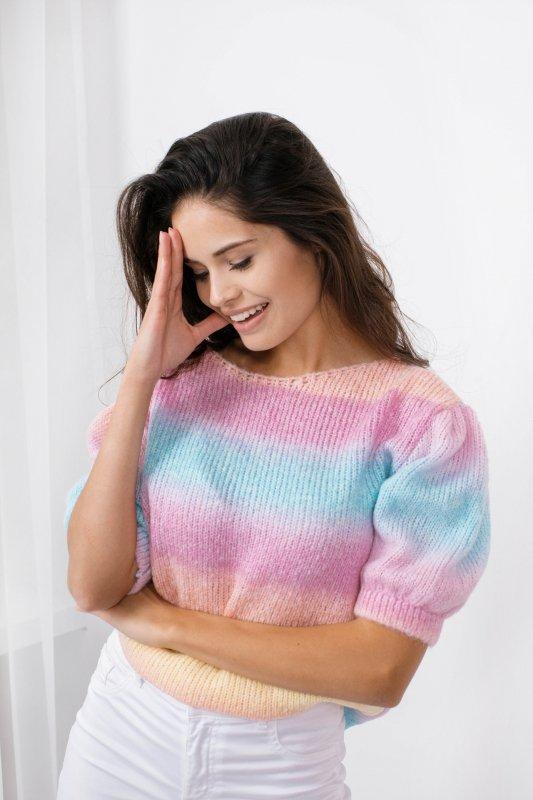 Pastelowy Sweter Tęcza - LS336 - 8