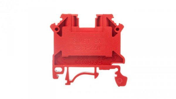 Złączka szynowa 2-przewodowa 2,5mm2 czerwona NOWA ZSG1-2.5Nc 11221311