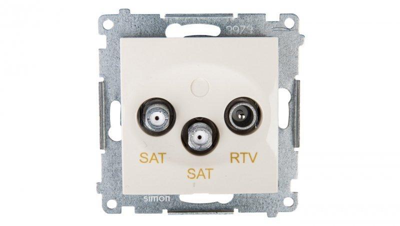 Kontakt Simon 54 Gniazdo antenowe RTV/SAT/SAT końcowe kremowe DASK2.01/41