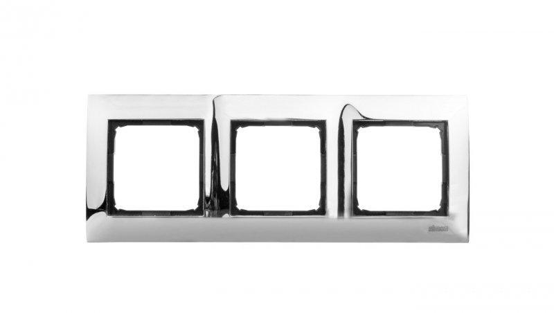 Kontakt Simon 54 Premium Ramka potrójna metalowa chrom DR3/63