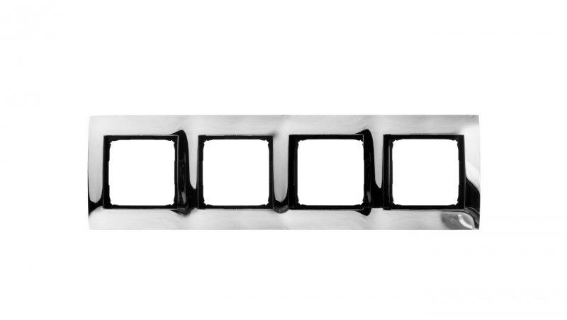Simon 54 Premium Ramka poczwórna metalowa chrom DR4/63