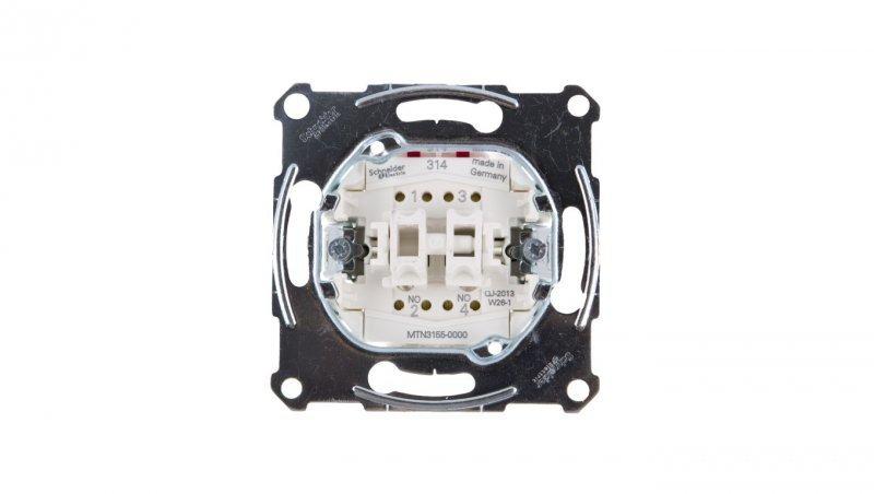 SCHNEIDER Merten Przycisk dwubiegunowy IP20 MTN3155-0000