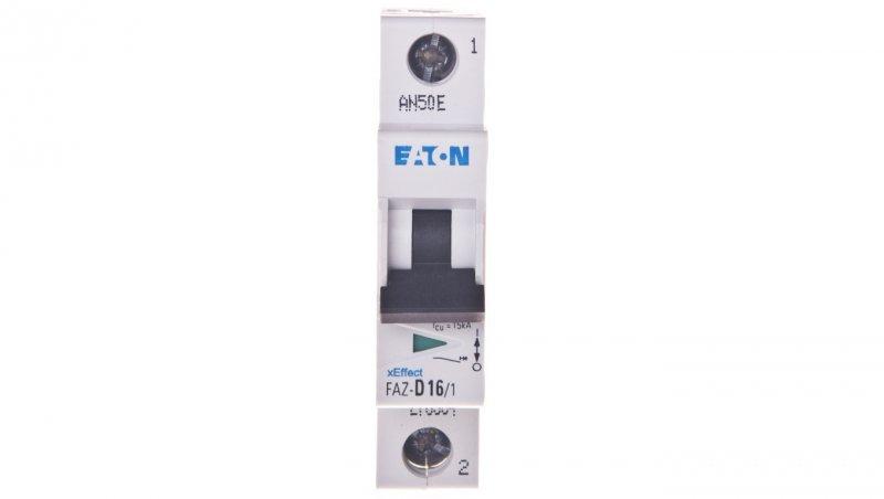 EATON Wyłącznik nadprądowy 1P D 16A 15kA AC FAZ D16/1 278584
