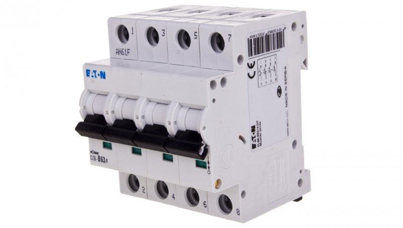 EATON Wyłącznik nadprądowy 4P B 63A 6kA AC CLS6-B63/4-DP 270516
