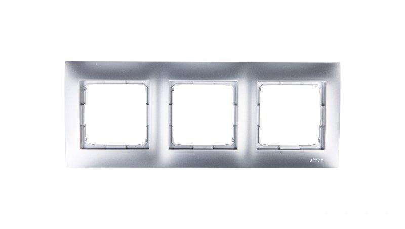 Kontakt Simon 54 Premium Ramka potrójna srebrny mat /do karton-gips/ DRK3/43