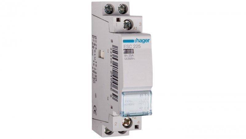 HAGER Stycznik modułowy 25A 2Z 0R 230V AC ESC225