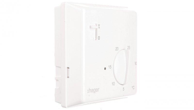 HAGER Termostat 230V 8A 5-30°C IP30 biały EK003