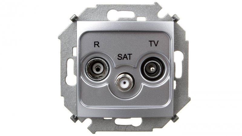 KONTAKT Simon 15 Gniazdo antenowe RTV/SAT końcowe aluminium metalizowane 1591466-026