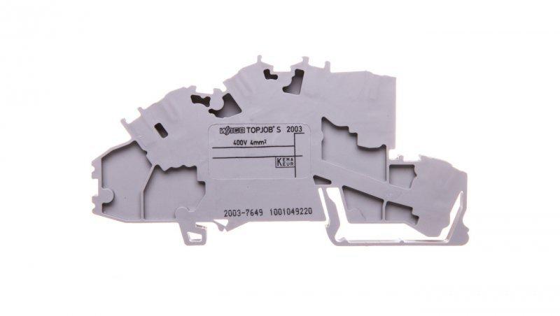 Złączka szynowa 2-pietrowa 2,5mm2 N/L szara 2003-7649 TOPJOBS