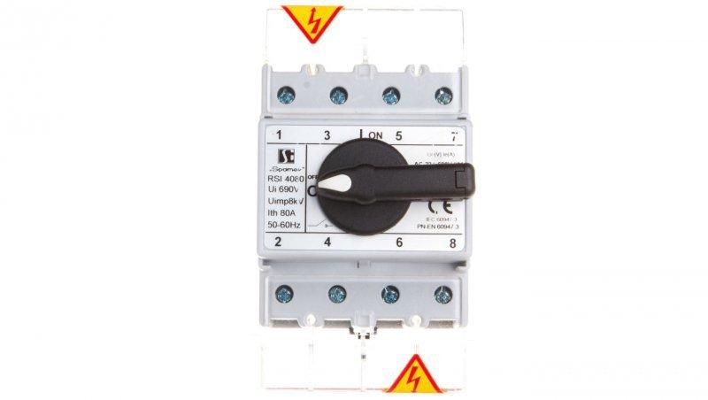 Rozłącznik izolacyjny 4P 80A RSI-4080W02