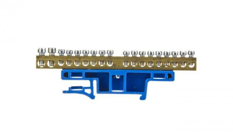Listwa zaciskowa na szynę 18-torowa niebieska TH35 LZ-18/N 0922-00