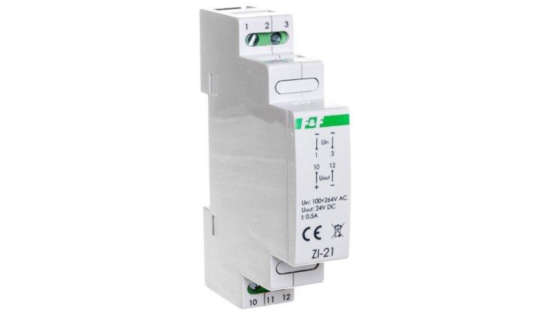 Zasilacz impulsowy 100-264VAC/DC/24VDC 12W 0,5A ZI-21