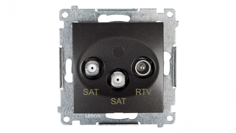 Simon 54 Gniazdo antenowe SAT/SAT/RTV końcowe antracyt DASK2.01/48