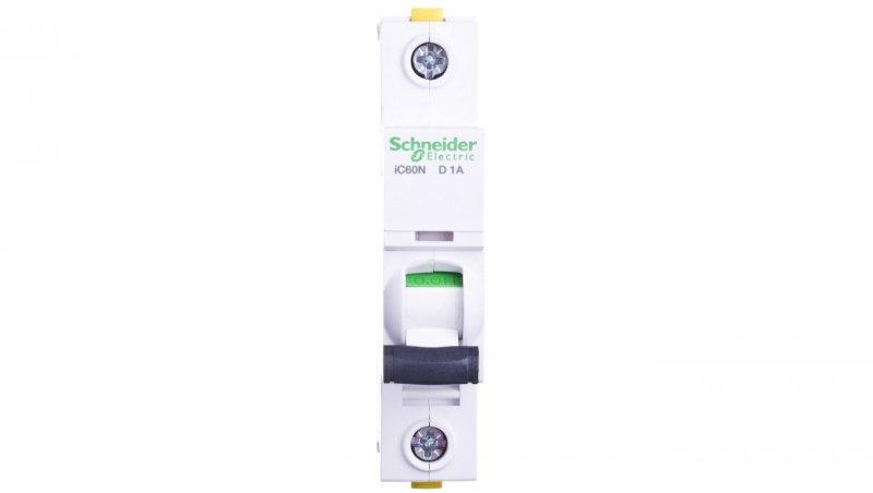 Wyłącznik nadprądowy 1P D 1A 6kA AC iC60N-D1 A9F05101