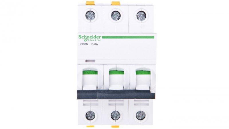 Wyłącznik nadprądowy 3P D 6A 6kA AC iC60N-D6-3 A9F05306