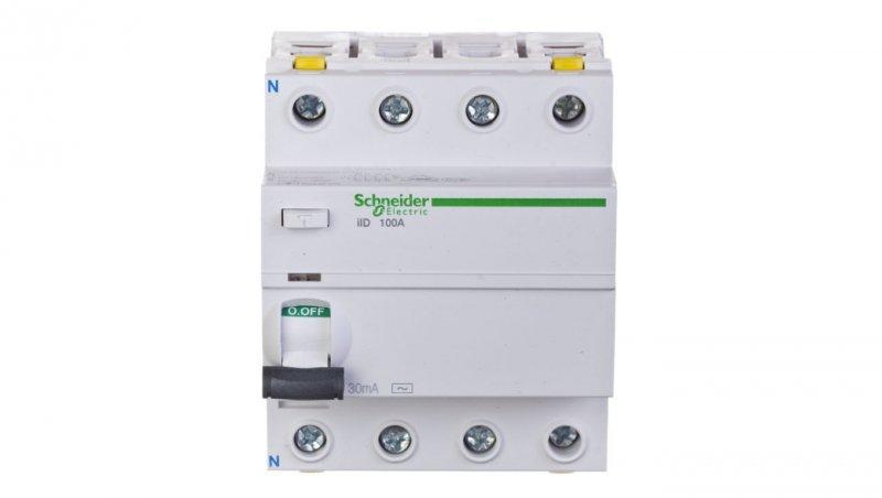 Wyłącznik różnicowoprądowy 4P 100A 0,03A typ AC iID A9Z11491
