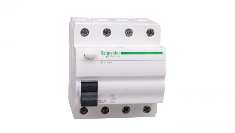 Wyłącznik różnicowoprądowy 4P 63A 0,03A typ AC ID K A9Z05463