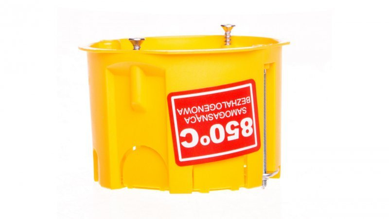 Puszka podtynkowa samogasnąca IP20 zółta PK-60 K-G N 0201-0N /40szt/