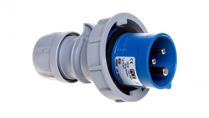 Wtyczka przenośna 16A 3P 230V niebieska IP67 TURBO SHARK 0132-6TTv