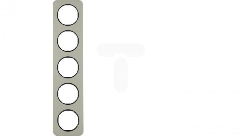 Berker R.1 Ramka pięciokrotna stal szlachetna/czarna 10152104
