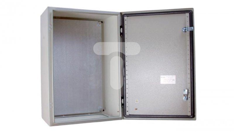 Obudowa metalowa 500x500x260mm IP65 z płytą montażową RN 505025 (RAL 7035) R30RS-01011101500