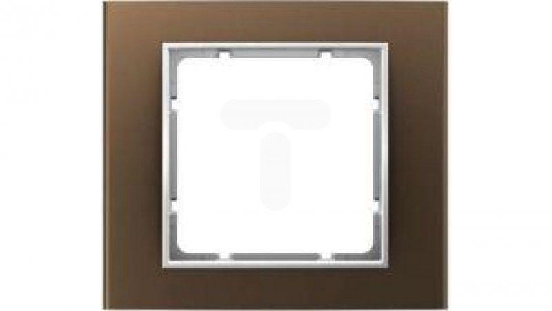 Berker B.3 Ramka pojedyncza alu brązowy/biały 10113021