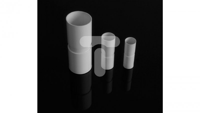 Złączka prosta PVC fi25mm biała ZPL 25 33720 /100szt./
