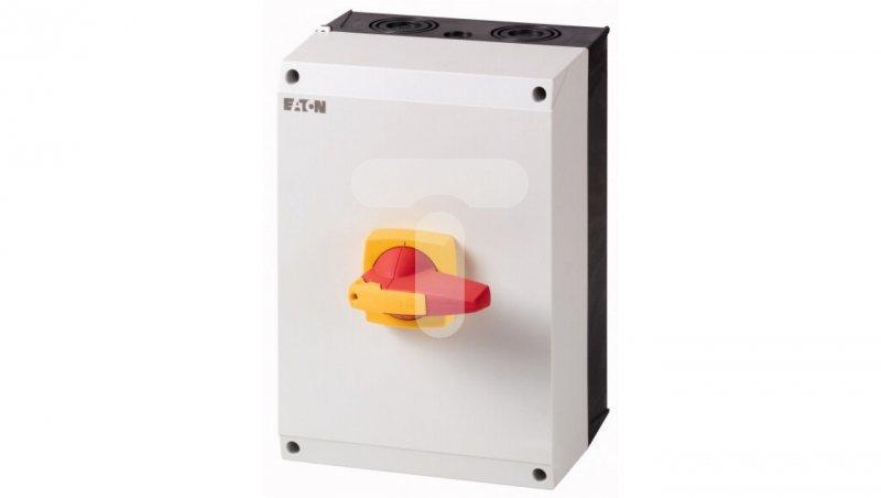 Rozłącznik izolacyjny 4P 125A z blokadą na kłódkę w obudowie IP65 DMM-125/4/I5/P-R 172854