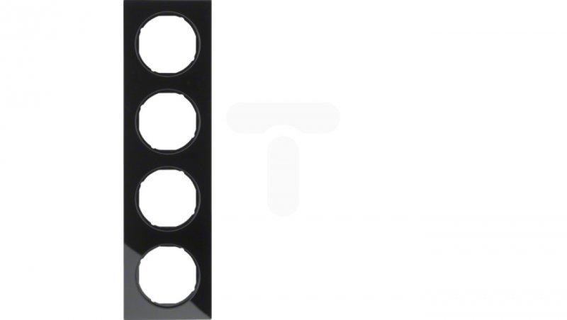 R.3 Ramka poczwórna szkło, czarna 10142216