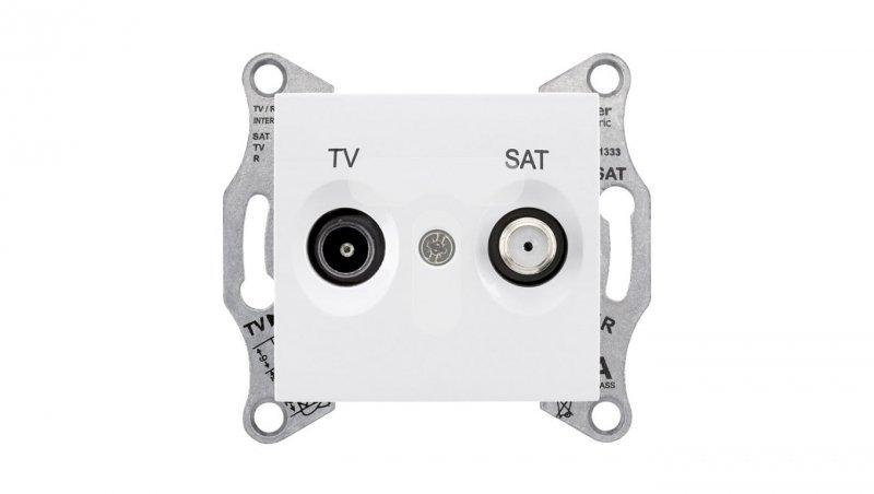 Sedna Gniazdo antenowe TV/SAT przelotowe białe SDN3401921