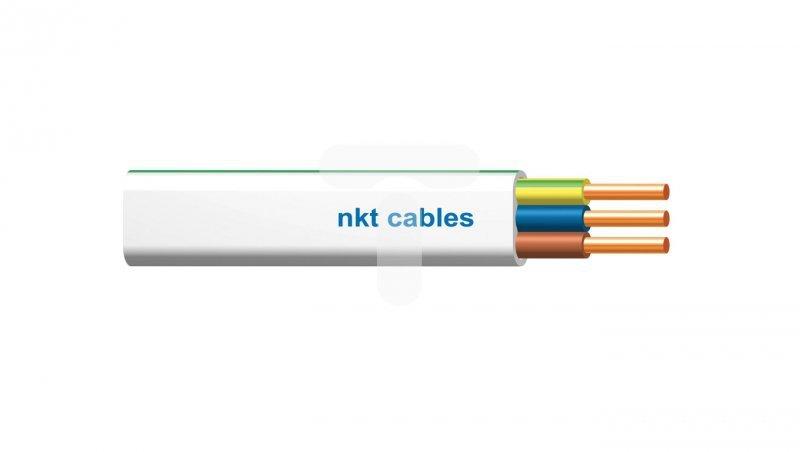 Przewód nkt instal plus YDYp 3x2,5 żo biały 450/750 /120m/