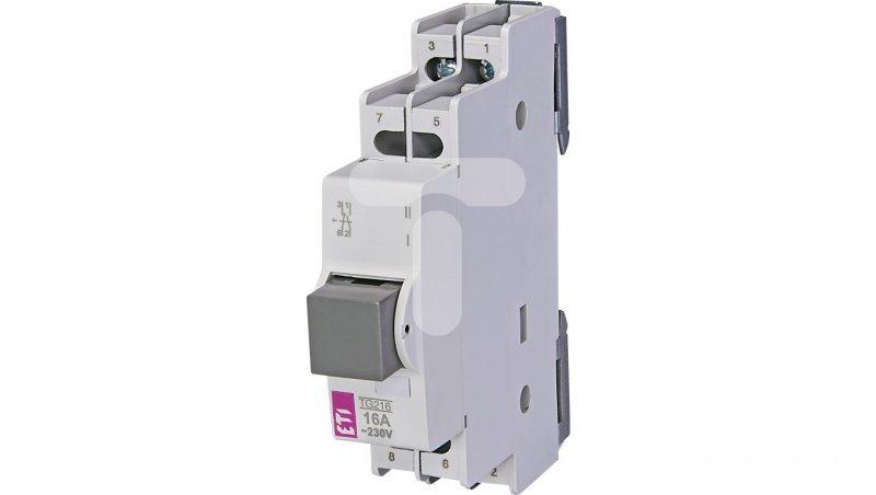 Przycisk modułowy 2P 16A szary 1Z 1R TG 216 764904101