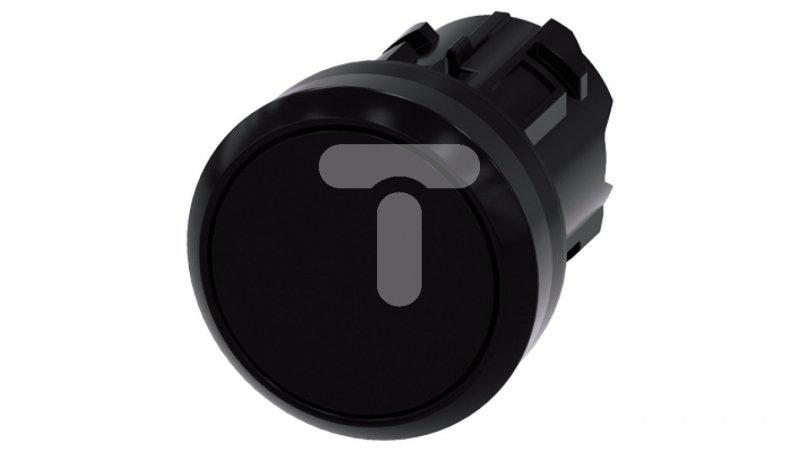 Przycisk SIRIUS ACT 22mm okrągły tworzywo czarny płaski z samopowr 3SU1000-0AB10-0AA0