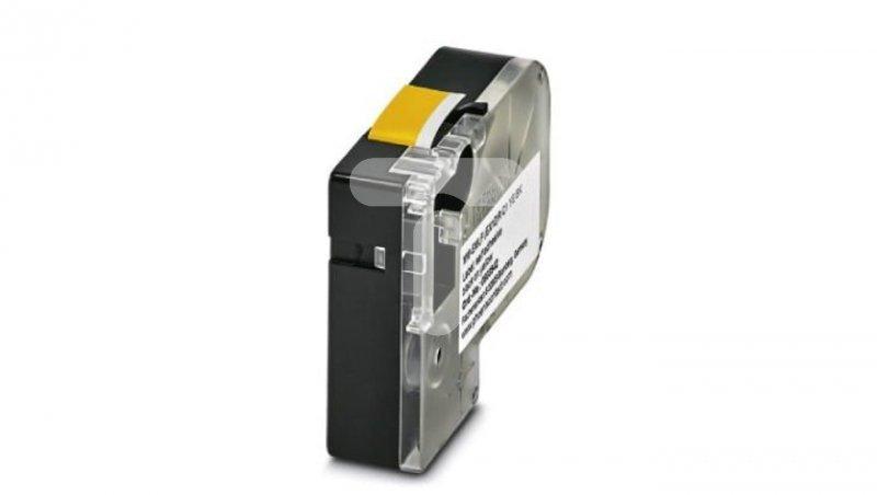 Etykieta termiczna ciągła w kasecie żółta z czarnym nadrukiem 12mm MM-EMLF (EX12)R C1 YE/BK do drukarki THERMOFOX 0803942