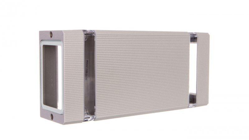 Oprawa ścienna dwukierunkowa NESSA GU10 max. 50W IP54 AC 220-240V 50/60Hz szara LD-NESSAGU10D-80