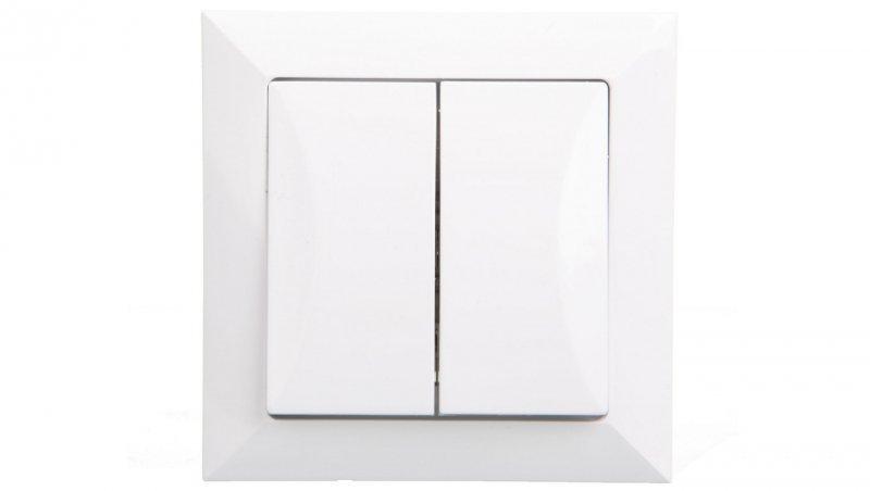 OPAL Łącznik schodowy podwójny biały WP-5/2 Op