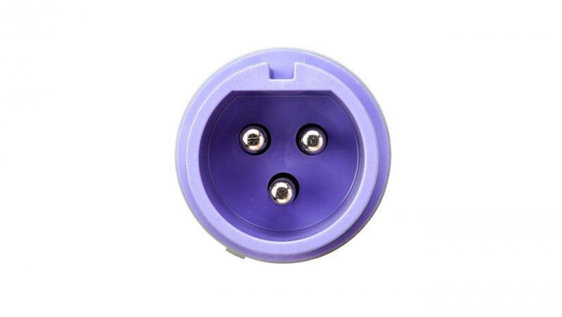 Wtyczka przenośna 32A 3P 24V AC fioletowa IP44 TWIST 073V