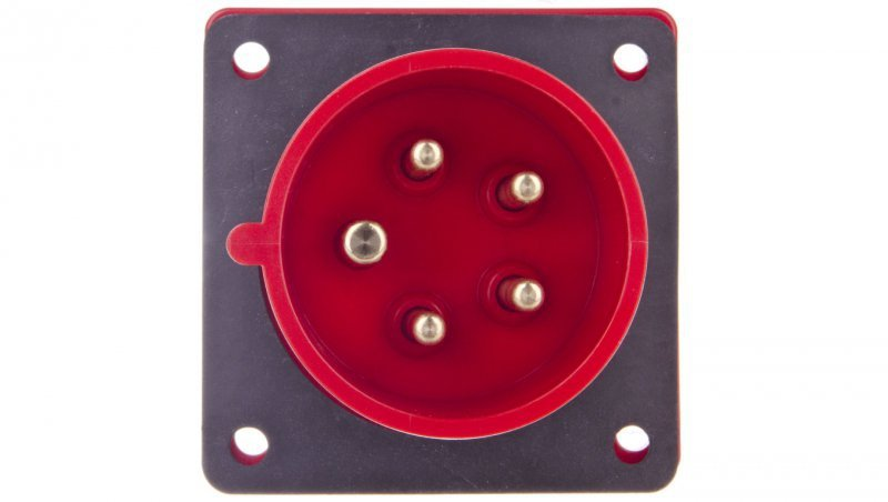 Wtyczka tablicowa 16A 5P 400V czerwona IP44 615-6f7