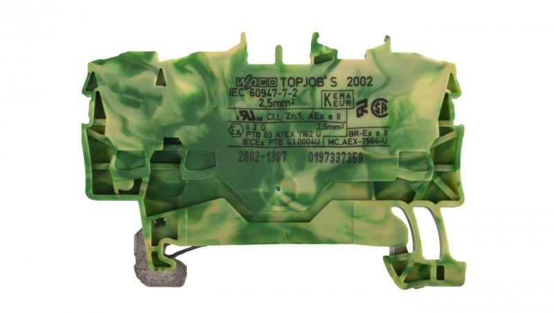 Złączka szynowa ochronna 2,5mm2 żółto-zielona 2002-1307 TOPJOBS