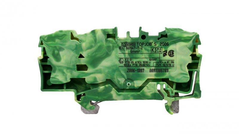 Złączka szynowa ochronna 6mm2 żółto-zielona 2006-1307 TOPJOBS